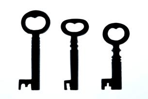 ハート型のアンティークキーの写真素材 [FYI00311907]