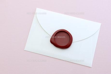 封筒と封蝋の素材 [FYI00311952]