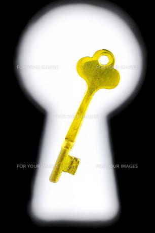 鍵穴とビンテージキーの素材 [FYI00311954]