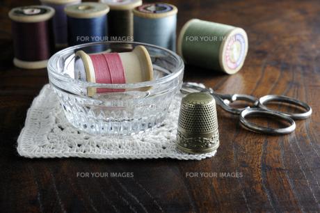 裁縫セットの写真素材 [FYI00312062]
