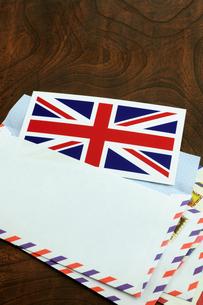 エアメール イギリス国旗の写真素材 [FYI00312146]