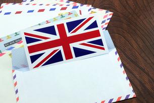 エアメール イギリス国旗の写真素材 [FYI00312156]