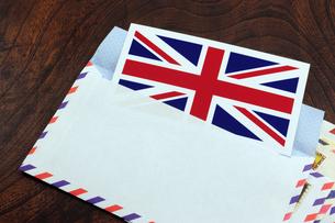 エアメール イギリス国旗の写真素材 [FYI00312160]