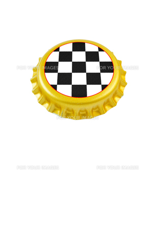王冠 チェッカー模様の写真素材 [FYI00312241]