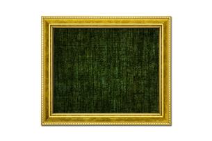アンティーク調のゴールド額縁 黒キャンバス地の写真素材 [FYI00312262]