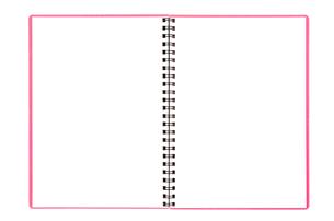 開いたスケッチブックの素材 [FYI00312279]
