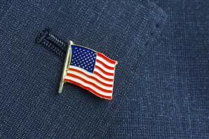 アメリカ国旗 ピンバッジの写真素材 [FYI00312325]