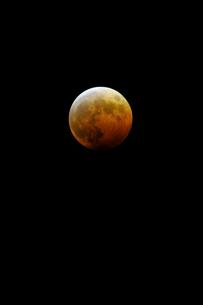 2014 10 8 皆既月食 新潟市の写真素材 [FYI00312337]