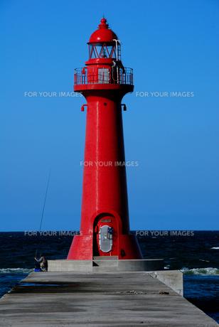 赤灯台の写真素材 [FYI00312418]