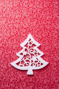 クリスマスツリー型のフェルトの写真素材 [FYI00312571]