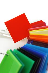 プラスチックのカラーサンプルの写真素材 [FYI00312586]
