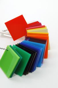 プラスチックのカラーサンプルの写真素材 [FYI00312599]