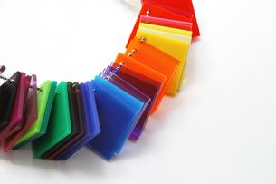 プラスチックの色見本の写真素材 [FYI00312601]