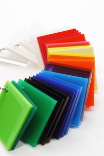 プラスチックの色見本の写真素材 [FYI00312605]