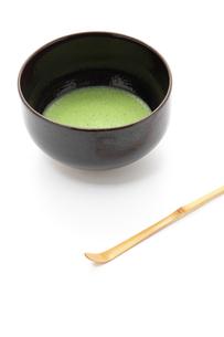 抹茶と茶碗と茶杓の写真素材 [FYI00312721]