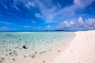 はての浜の綺麗な砂浜の写真素材 [FYI00313057]