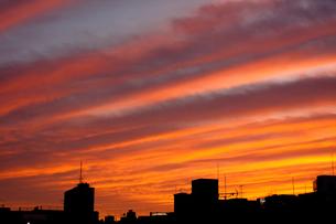 夕日で焼けた空の素材 [FYI00313090]