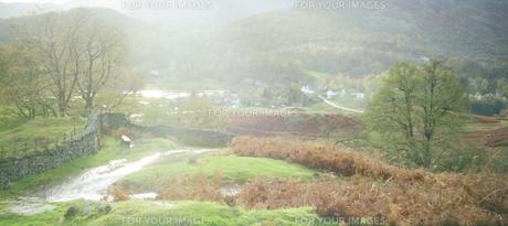 イギリス 湖水地方の雨上がりの風景の写真素材 [FYI00313134]