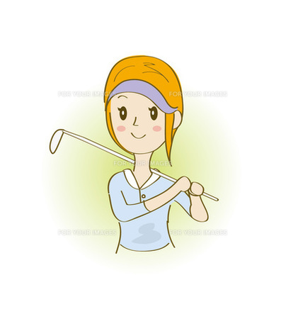 ゴルフする女性の写真素材 [FYI00313147]