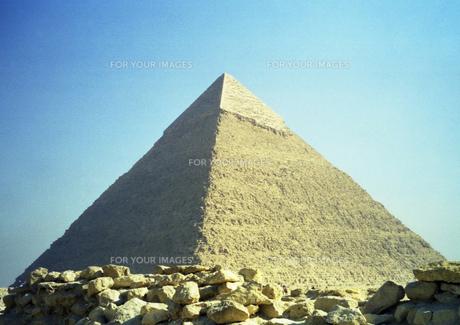 エジプト ギザのカフラー王ピラミッドの写真素材 [FYI00313149]