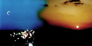 月と太陽のセッションの写真素材 [FYI00313169]