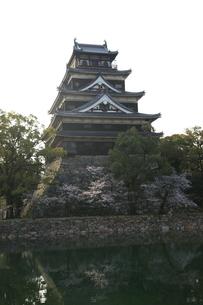 広島城と桜の写真素材 [FYI00313311]