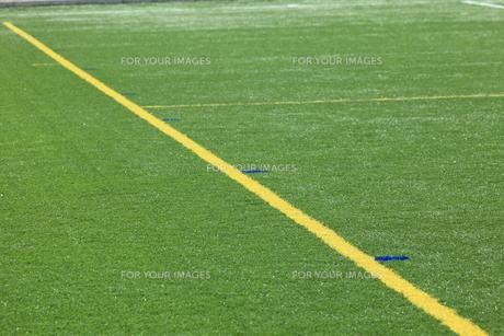人工芝のラインの写真素材 [FYI00313314]