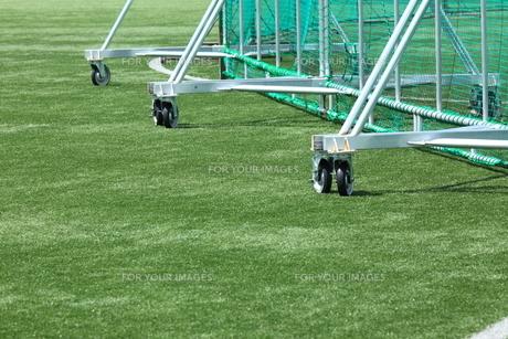 人工芝とネットの写真素材 [FYI00313333]