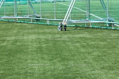 人工芝とネットの写真素材 [FYI00313343]