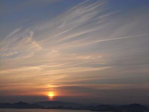亀老山展望台からの夕景の写真素材 [FYI00313378]