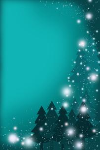 雪降る夜に (緑)の素材 [FYI00313480]