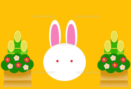 門松とウサギの写真素材 [FYI00313514]
