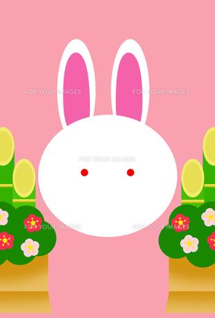門松とウサギの写真素材 [FYI00313516]