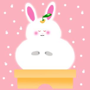 ウサギの鏡もちの写真素材 [FYI00313537]