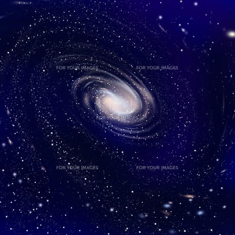 広がる銀河の写真素材 [FYI00313626]