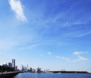 横浜港山下公園からの眺めの写真素材 [FYI00313645]