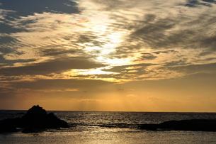 小笠原諸島 聟島の夕焼けの写真素材 [FYI00313708]