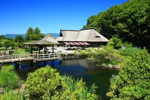 遠野 夏のたかむろ水光園の写真素材 [FYI00315201]