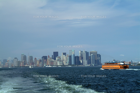 マンハッタン遠景の写真素材 [FYI00315356]
