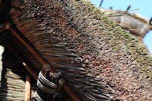 茅葺き屋根のアップの写真素材 [FYI00315626]