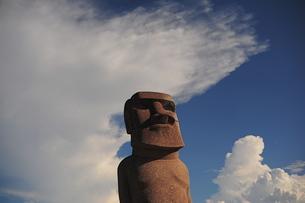 犬島のモアイ像-2の写真素材 [FYI00315760]
