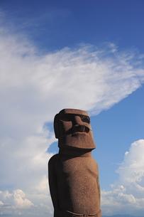 犬島のモアイ像の写真素材 [FYI00315767]