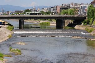 鴨川四条大橋を臨むの写真素材 [FYI00315821]