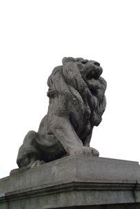 難波橋のライオン像-1の写真素材 [FYI00316049]