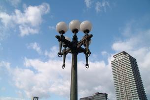 大阪難波橋の街灯の写真素材 [FYI00316074]