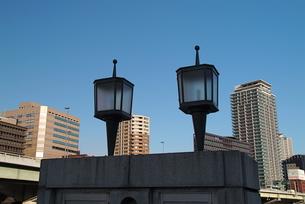 大阪堂島川水晶橋の街灯の写真素材 [FYI00316075]