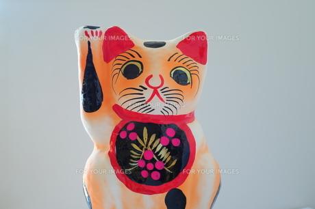 張子の招き猫-2の写真素材 [FYI00316168]