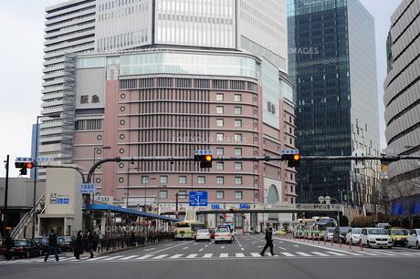 大阪駅前風景の写真素材 [FYI00316175]