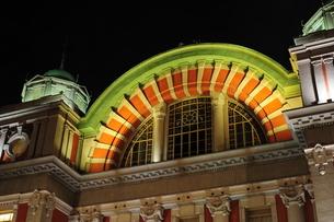 大阪市中央公会堂ライトアップ-1の写真素材 [FYI00316194]