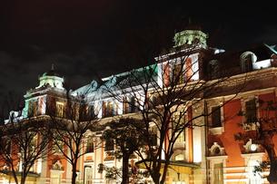 大阪市中央公会堂ライトアップ-2の写真素材 [FYI00316204]
